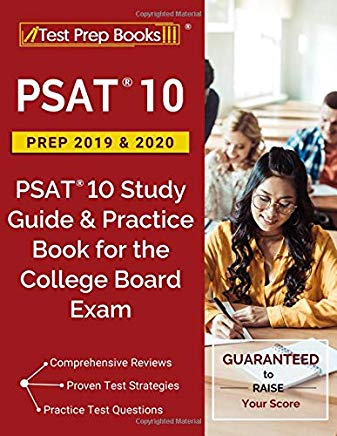 PSAT 10 Prep 2019 & 2020: PSAT 10 Study Guide & Practice Book for the College Board Exam Cover