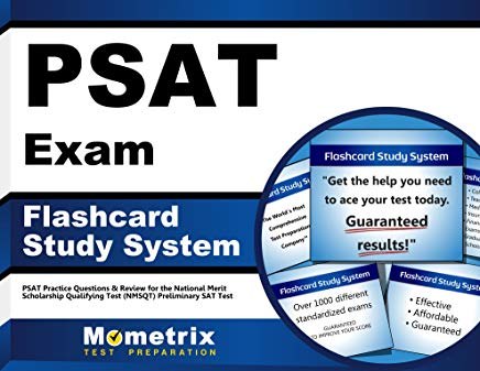 PSAT Exam Flashcard Study System: PSAT Practice Questions & Review for the National Merit Scholarship Qualifying Test (NMSQT) Preliminary SAT Test (Cards) Cover
