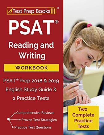 PSAT Reading and Writing Workbook: PSAT Prep 2018 & 2019 English Study Guide & 2 Practice Tests Cover
