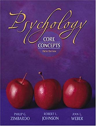 Psychology: Core Concepts (hardcover) (5th Edition) Cover