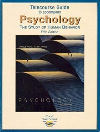 Psychology: The Study of Human Behavior (Telecourse Guide) Cover