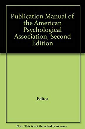 Publication Manual of the American Psychological Association, Second Edition Cover