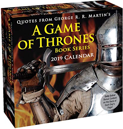 Quotes from George R. R. Martin's A Game of Thrones Book Series 2019 Day-to-Day Cover