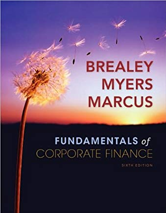 R. Brealey's, S.Myers's, A,Marcus's 6th(sixth)edition(Fundamentals of Corporate Finance + Standard & Poor's Educational Version of Market Insight (Hardcover))(2008) Cover