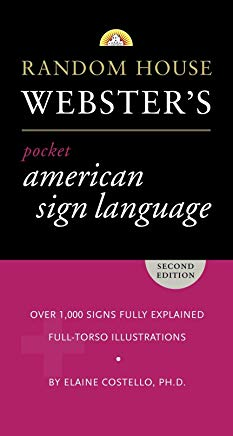 Random House Webster's Pocket American Sign Language Dictionary Cover