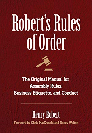 Robert's Rules of Order: The Original Manual for Assembly Rules, Business Etiquette, and Conduct Cover