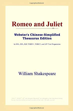 Romeo and Juliet (Webster's Chinese-Simplified Thesaurus Edition) Cover