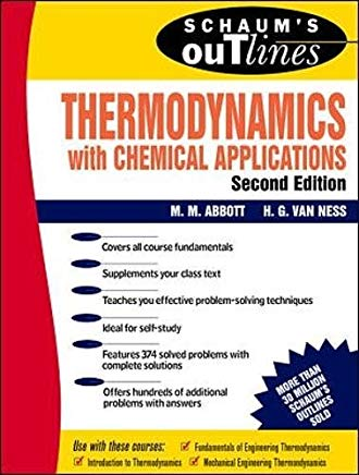 Schaum's Outline of Thermodynamics With Chemical Applications (Schaum's Outline Series) Cover