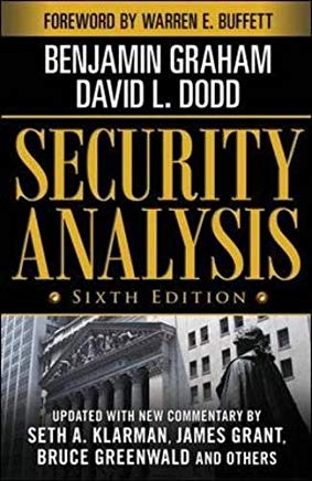 Security Analysis: Sixth Edition, Foreword by Warren Buffett (Security Analysis Prior Editions) Cover
