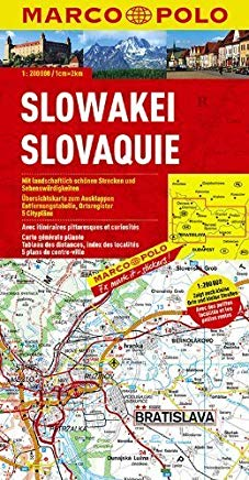 Slovakia Marco Polo Map (Marco Polo Maps (Multilingual)) by Marco Polo (2013-04-10) Cover