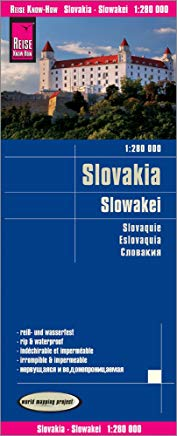 Slovakia Travel Map - 1:280,000 (English, Spanish, French, German and Russian Edition) Cover