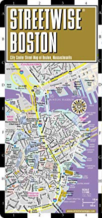 Streetwise Boston Map - Laminated City Center Street Map of Boston, Massachusetts - Folding pocket size travel map with MBTA subway map & trolley lines Cover
