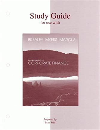 Study Guide to accompany Fundamentals of Corporate Finance Cover
