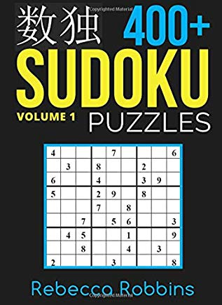 Sudoku: 400+ Sudoku Puzzles with Easy, Medium, Hard, and Very Hard Difficulty Levels (Sudoku Puzzle Book) (Volume 1) Cover