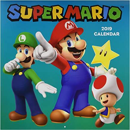 Super Mario 2019 Wall Calendar Cover