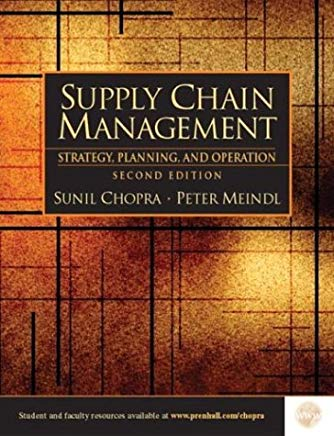 Supply Chain Management: Strategy, Planning, and Operations, Second Edition Cover