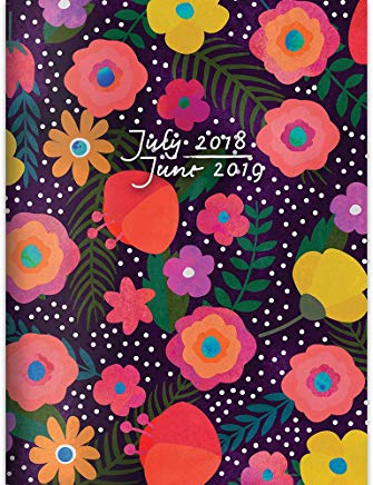 TF Publishing 19-4205A July 2018 - June 2019 Blooming Monthly Planner, 7.5 x 10.25