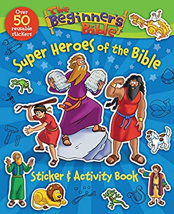 The Beginner's Bible Super Heroes of the Bible Sticker and Activity Book Cover