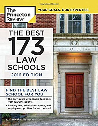 The Best 173 Law Schools, 2016 Edition Cover