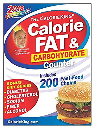The CalorieKing Calorie, Fat & Carbohydrate Counter 2018 Larger Print edition Cover