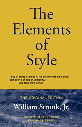 The Elements of Style: The Original Edition Cover
