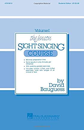 The Jenson Sight Singing Course (Vol. I) (Methodology Chorals Singer) Cover