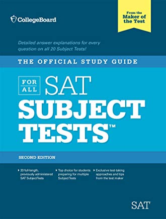 The Official Study Guide for ALL SAT Subject Tests, 2nd Edition Cover