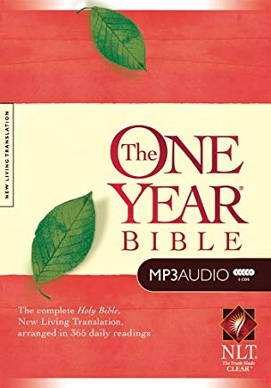 The One Year Bible NLT, MP3 (Audio CD) Cover