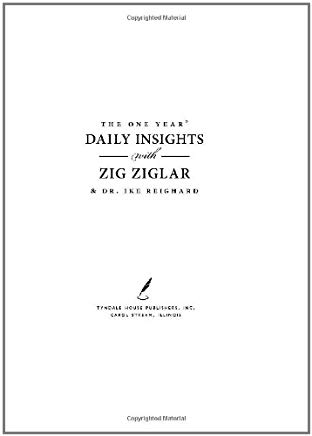 The One Year Daily Insights with Zig Ziglar (One Year Signature Series) Cover