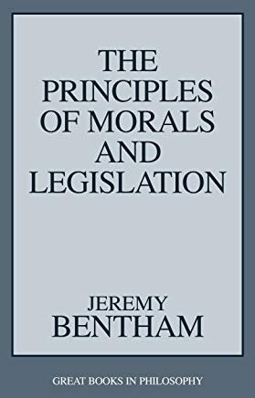 The Principles of Morals and Legislation (Great Books in Philosophy) Cover