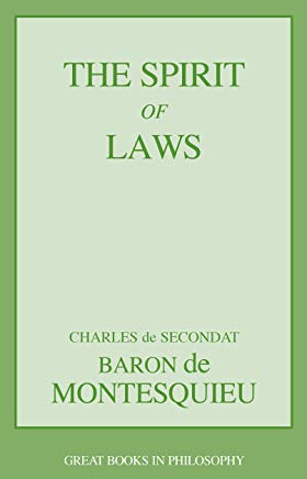 The Spirit of Laws (Great Books in Philosophy) Cover