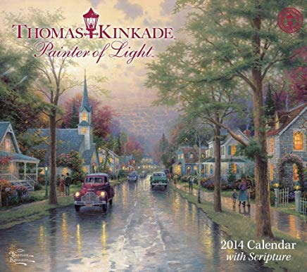 Thomas Kinkade Painter of Light with Scripture 2014 Deluxe Wall Calendar Cover
