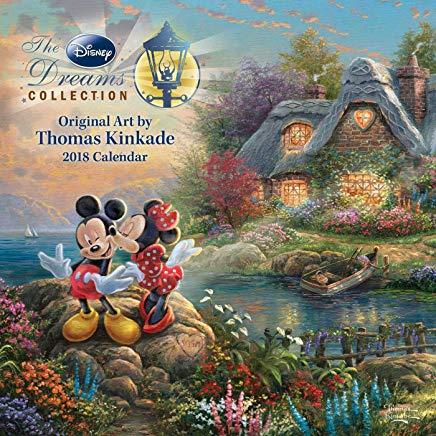 Thomas Kinkade: The Disney Dreams Collection 2018 Wall Calendar Cover