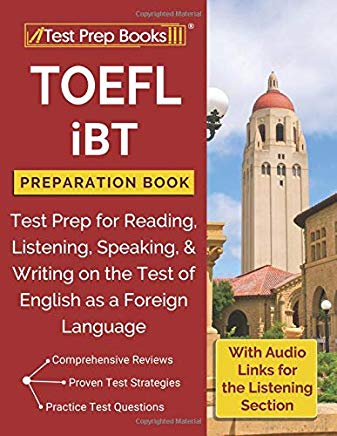 TOEFL iBT Preparation Book: Test Prep for Reading, Listening, Speaking, & Writing on the Test of English as a Foreign Language Cover