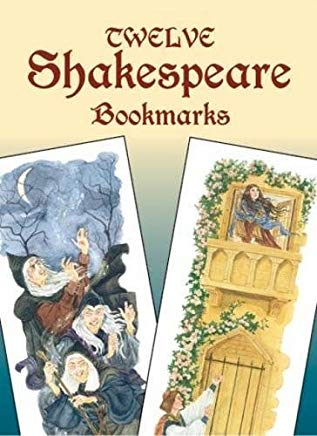Twelve Shakespeare Bookmarks (Dover Bookmarks) Cover