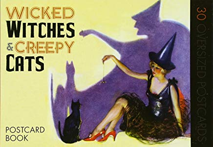Wicked Witches and Creepy Cats: A Halloween Postcard Book Cover